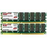 Komputerbay 2GB (2x 1GB) 184 Pin DDR DIMM 400MHz PC3200 CL 3.0 Desktop Memory
