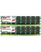 Komputerbay 2Go (2x 1Go) 184 broches DIMM DDR 400MHz PC3200 CL mémoire 3.0 bureau