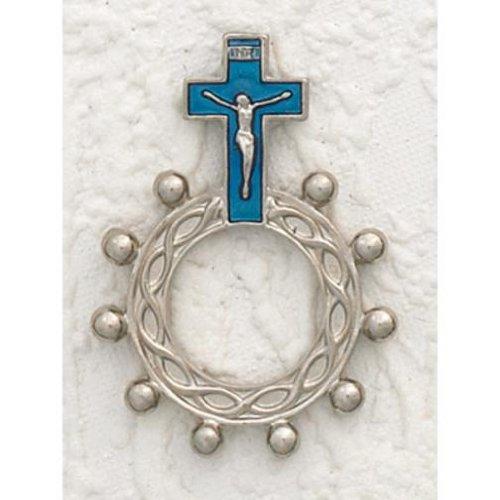 25 Finger Rosaries Enamel Blue