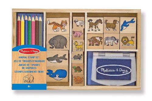 Melissa & Doug - Juego de sellos de animales (13798)