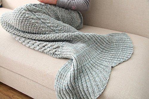 Casofu® Blue Mermaid Tail Blanket,Adult Thick Mermaid Tail Blanket Snuggle Mermaid