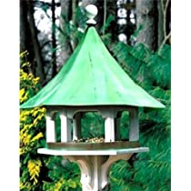Lazy Hill Farm Designs 43506 Carousel Feeder White Solid Cellular Vinyl with Blue Verde Copper Roof