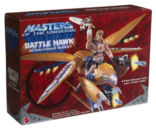 Picture of Mattel Battle Hawk He-Man Combat Aircreaft - Masters Of The Universe Figure (B000069IEX) (Mattel Action Figures)