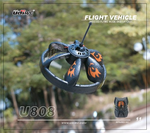 U808 Infrared R/C Flying Saucer UFO Hand Induced Flight w/ LED Lights