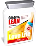 LOVE LIFE Clean & Lean | Slimming / Diet / Weight Loss Pills | Helps To Burn Fat, Detoxify and Lose Weight | Contains CLA, Green Tea, B Vitamins, Chromium, Biotin, L-Carnitine plus Much More! | A Powerful Combination of Herbs, Spices, Vitamins, Minerals and Amino Acids | 60 Capsules | Premium GMP Supplement
