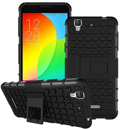 Cubix Defender Series Dual Layer Hybrid TPU + PC Kickstand Case Cover for Yu Yureka