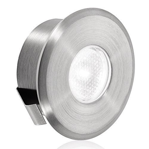 Aurora 1W 12/24V Dc Stainless Steel 316 Ip66 Fixed Chamfered Led Step Light - Warm White