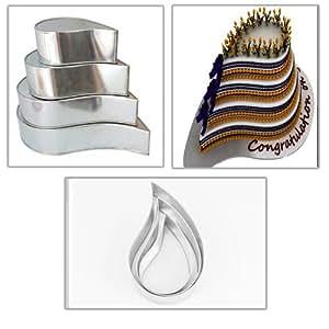 wedding anniversary cake pans tins 6 8 10 12