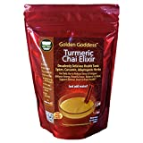 Golden Goddess® Turmeric Chai Elixir - Delicious Instant Powder Beverage for Stress Relief, Weight Loss, Anti-inflammatory, Caffeine-free Energy -Organic Spices, Curcumin, Ashwagandha, & Coconut Milk