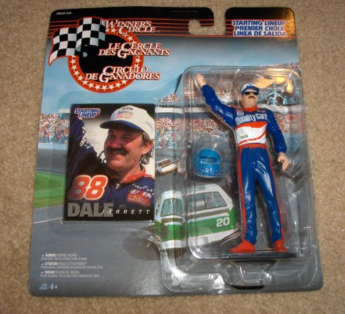 1997 - Kenner - Starting Lineup - Winner's Circle - NASCAR - Dale Jarrett Action Figure - 4 Inch Fig - Ford Quality Care - Ford Thunderbird - w/ Accessories - Limited Edition - Collectible - 1