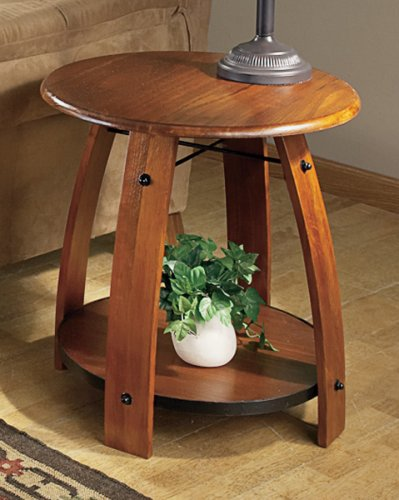 Cheap Barrel Stave End Table Dark Maple (B000GQF98G)