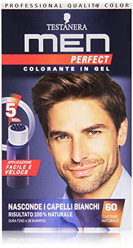 Testanera - Men Perfect, Colorante in Gel, 60 Castano Naturale - 1 confezione