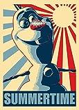 (18x24) Olaf Snowman Summertime Pop Culture Movie Poster Print
