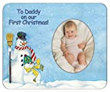 To Daddy On Our First Christmas... - Photo Magnet Frame