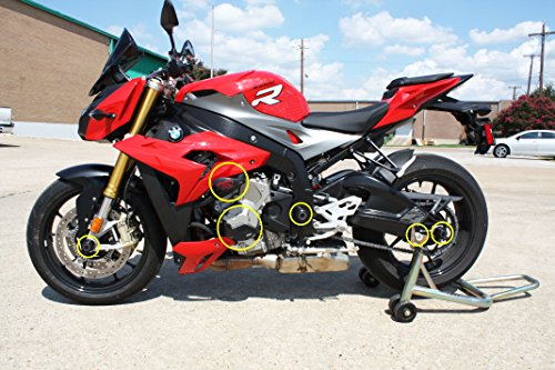 T-Rex 15-16 BMW S1000RR Frame Sliders, Case Covers, Front/Rear ...