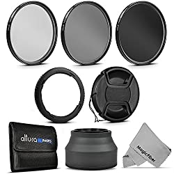 Essential Accessory Kit for CANON PowerShot SX60 HS and SX530 HS - Includes: 67mm Altura Photo Filter Kit (UV-CPL-ND4) + Carrying Pouch + Collapsible Rubber Lens Hood + Center Pinch Lens Cap + MagicFiber Microfiber Cleaning Cloth