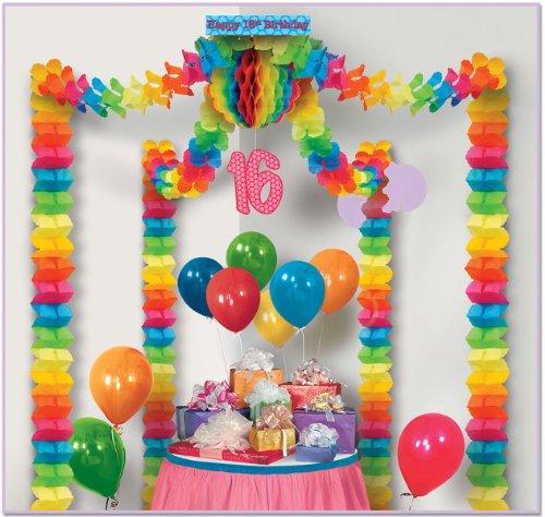 16Th Birthday Party Canopy (18 Pack)