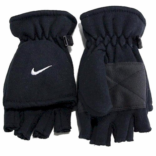 Nike Youth Boy's 8/20 Convertible Gloves (Black)