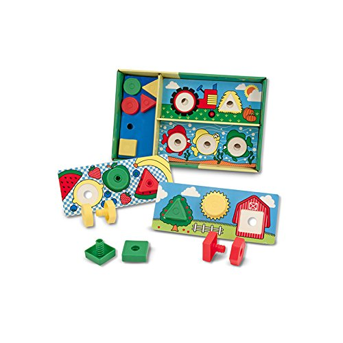 MELISSA & DOUG SORT MATCH ATTACH NUTS & BOLTS (Set of 3) - 1