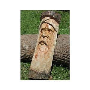 Solid Jampinese Wood Green Man Half Log   50cm