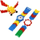 Reloj LEGO 4250341  Make-N-Crear con enlaces Intercambiables de Color Amarillo, Verde, Azul y Rojo para Niño