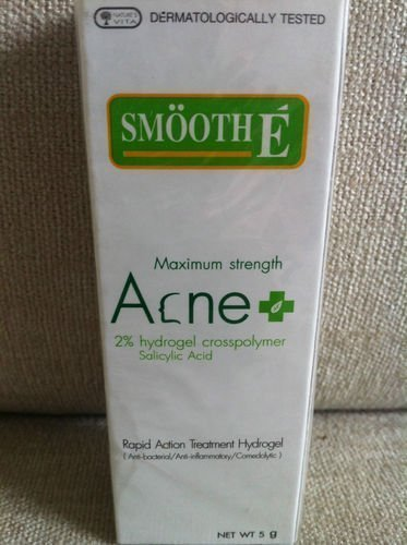 Smooth E Acne Cream Hydro Gel *** Maximum Strength *** (5G) Has Salicylic Acid Amazing Of Thailand