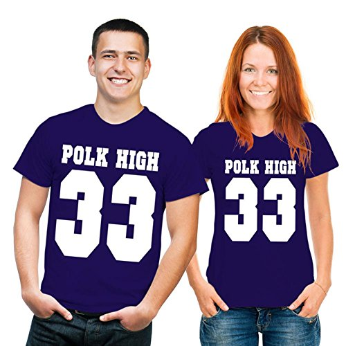 T-Shirt frasi.., è Polk High No. 33 Fb blu navy