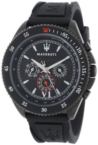 Maserati  R8851101001 - Reloj de cuarzo para hombre, con correa de plástico, color negro