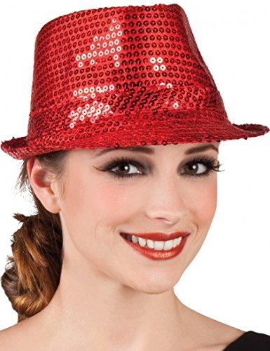Borsalino Disco à Paillettes Rouge