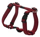 "Rogz Utility Medium 5/8"" Snake Adjustable Reflective Dog H-Harness, Red"