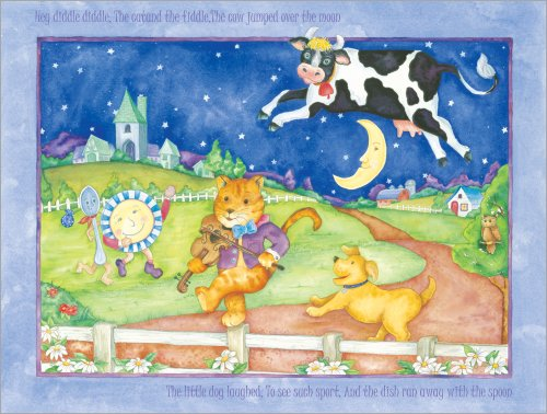 """Art 4 Kids """"Hey Diddle, Diddle"""" Mounted Art Print, 24""""X18"""" front-928005"""