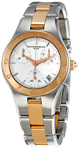 BAUME ET MERCIER LINEA MOA10016 LADIES STAINLESS STEEL CASE CHRONOGRAPH WATCH