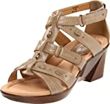 "Stunning good looks come ""down to earth"" in the Earth Lucinda women's sandal. A smart wedge heel points to a stylish side, while soft leather straps include several notches of adjustability for a smartly tailored fit. With multi-density cushioning to cradle the foot in comfort, and a padded heel to absorb shock, the Earth Lucinda is one well-balanced sandal designed to take it all in stride.•Multi-density latex cushioning for extra comfort•Reinforced arch support to stabilize the foot•Padded heel area to absorb and displace shock"