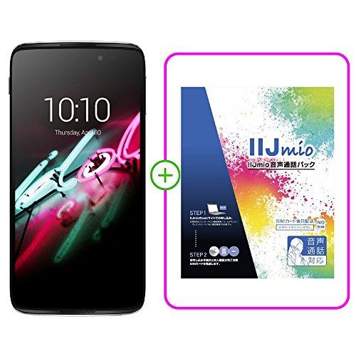 ALCATEL ONETOUCH IDOL 3(5.5) smartphone in Metallic Silver SIMフリー スマートフォン ( IIJmio SIM 音声通話パック IM-B043 バンドル版 ) -B043 6045F-2CALJP7+IM