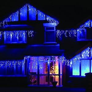 LEDwholesalers 16 4 Feet 120 LED Icicle Christmas Holiday