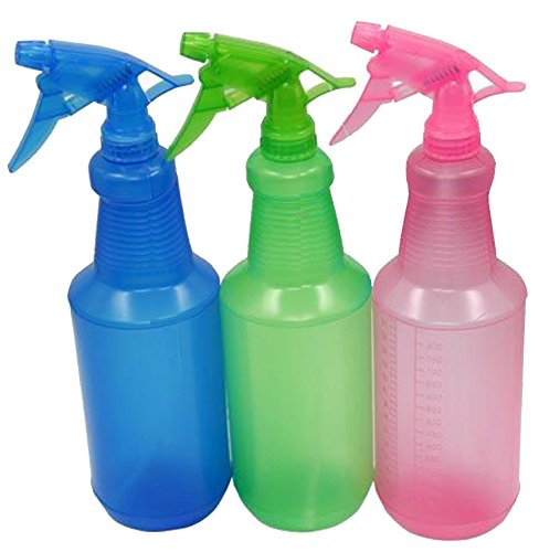Spray Bottle 32oz, Pack of 3 - Reusable Spray Bottles for Cleaning - Multipurpose - Adjustable Nozzles (Blue Green, Pink) (Color Measurement compare prices)