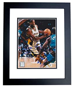 Erick Dampier Autographed Hand Signed Indiana Pacers 8x10 Photo - BLACK CUSTOM FRAME by Real+Deal+Memorabilia