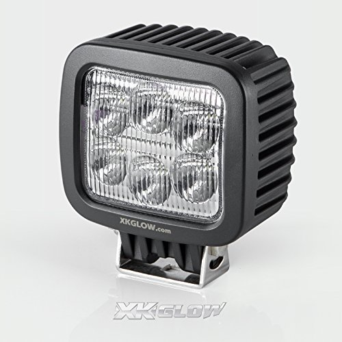 60Watt 6500Lm Cree Led Flood Beam Super Bright High Power Work Light For Atv 4Wd Off Road Vehicle Tractor Truck Driving Fog Lamp- 12V & 24 Universal Led Chip Made In Usa