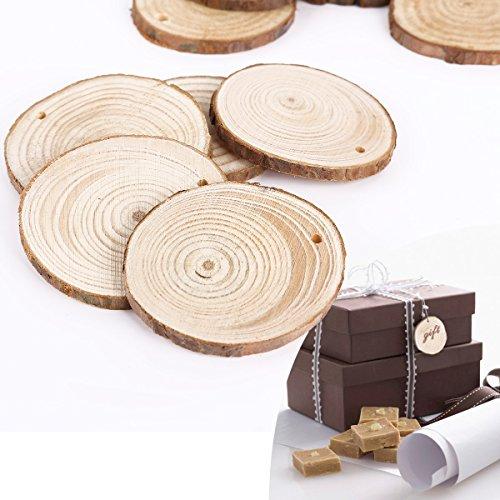 25tlg rund form holz anh nger geschenkanh nger namenskarte basteln hochzeit party deko. Black Bedroom Furniture Sets. Home Design Ideas