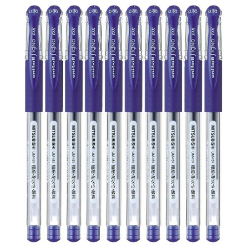 Uni-ball Signo DX UM-151 Gel Ink Pen 10 Set(Blue)