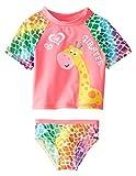 Wippette Baby Girls Newborn Giraffe Rash Guard Two Piece Swim Set