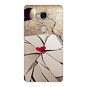 Broken Heart Ace Print Back Case Cover for Huawei Honor 5X