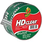 Duck Brand HD Clear High Performance Packaging Tape, 1.88-Inch x 54.6-Yard, Crystal Clear, Single Roll (297438)