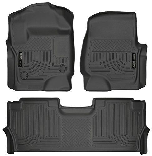Husky Liners 13301-14401 - WeatherBeater Series - First and Second Row All Weather Floor Liners for 2017 Ford F-250/F-350/F-450 Crew Cab (Husky Floor Mats Ford F250 compare prices)