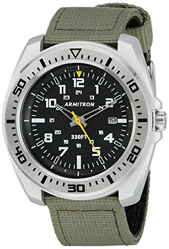 armitron-sport-mens-20-5127bksvog-army-green-nylon-strap-watch