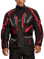 Roleff Racewear Chaqueta de Moto Motorrad (Negro / Rojo)