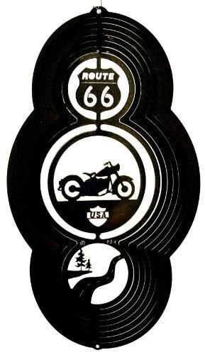 Stainless Steel Wind Spinner, Theme Motorcycle, Black Starlight
