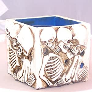 Skeleton Candle Holder With Candle Inside