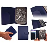 AMAZON KINDLE 4 4TH GENERATION (BLUE) EXECUTIVE LEATHER CASE COVER BOOK WALLET (2011 Latest Kindle Generation, £89, Wi-Fi, 6