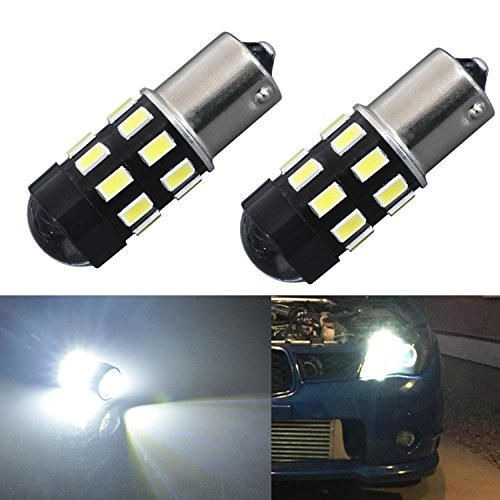 JDM ASTAR 960 Lumens Super Bright 5730 Chipsets 1156 1141 1073 7506 LED Bulbs with Projector,Xenon White--2yr Warranty Included